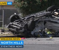 1 killed, 8 injured as SUV, van collide in L.A.