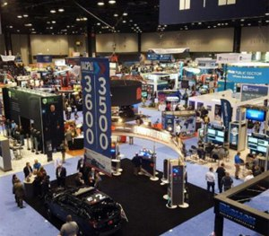 Vendors demonstrate their products at IACP 2015.