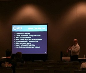 David Bradley talks about intersection safety at EMS World Expo 2015. (Photo by Greg Friese)