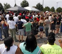 200 rally at scene of fatal Ohio police shooting