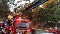 Calif. wildfire turns crash scene when pickup truck strikes 1 FF, 2 pedestrians