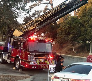 Firefighters at a scene in this photo from the Watsonville department's social media.