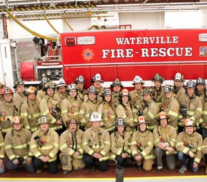 Waterville Fire-Rescue removed a photograph from its Facebook page after some accused one of the firefighters in the photograph of making a hand gesture affiliated with white supremacy. The department confirmed the firefighter (third from left in the second row) was making the gesture due to a minor injury. (Photo/Waterville Fire-Rescue)