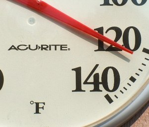 High ambient temperatures increase the risk of heat stroke and heat exhaustion.