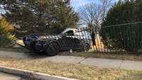 Video: Conn. cops struck by stolen patrol car amid pursuit