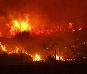 A wildlife burns near Othello, Adams County, in 2017. (Photo/AP)