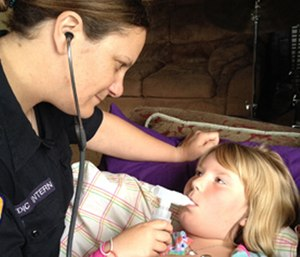Lung sound auscultation is an important assessment for any respiratory complaint. (Photo/Jennifer Bach)