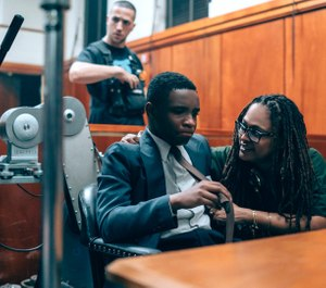 Ava DuVerney, right, is accused of defaming an interrogation system in her Netflix miniseries