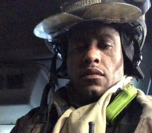 Buffalo Fire Department firefighter Eric Whitehead suffered third-degree burns to his hands while battling a blaze. (Photo/Buffalo Fire Department)