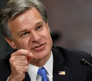 In this July 23, 2019 file photo, FBI Director Christopher Wray testifies before the Senate Judiciary Committee on Capitol Hill in Washington. (AP Photo/Susan Walsh, File)