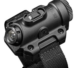 The compact, wrist-worn light uses a proprietary reflector that shapes the LED light into a wide beam ideal for close-range tasks. (Photo courtesy SureFrie)