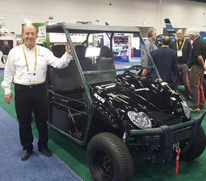 Xtreme Green Electric Vehicles at IACP 2016. (PoliceOne Photo/Doug Wyllie)