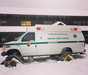 A Yellowstone National Park ambulance. (Photo by Leah Collins)