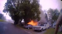 Watch: Tenn. police officer sprints into exploding home, rescues woman