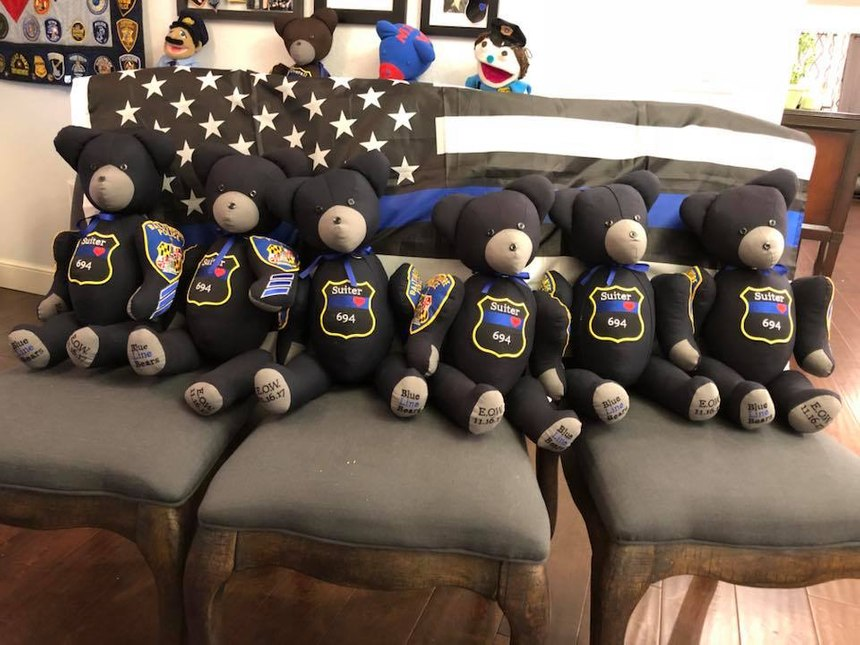 Blue Line Bears has made nearly 300 bears for the families of fallen LEOs. (Photo/Blue Line Bears)