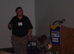 Image Drew JohnsonDr. Bryan Bledsoe discusses the new myths and urban legends in EMS at the EMS World Expo in Las Vegas.