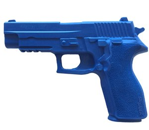 It's molded from solid blue polyurethane to differentiate it from a live weapon