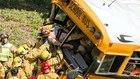 12 hurt, 3 critical in California school bus crash