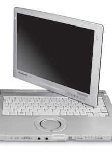 Panasonic's Toughbook C1 features an Intel's Core i5 processor with 2GB RAM and a 250GB shock-mounted hard drive.