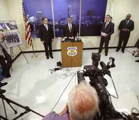 Cleveland Mayor Frank Jackson answers questions during a news-conference Tuesday, June 11, 2013, in Cleveland. (AP Image)