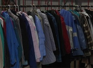 Donated coats the charity has collected. (Photo NBC News)