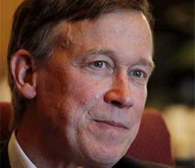 Colorado Gov. John Hickenlooper is pictured during an interview with the Associated Press at his office in the Capitol in Denver on Wednesday, Dec. 12, 2012. Colorado's governor says it's time the state considered gun control measures, almost five months after a movie theater massacre shocked the nation. (AP Image)