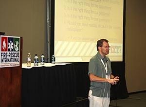 Photo Jamie ThomsonChief Prziborowski speaks to an audience at FRI 2011.