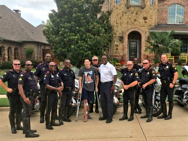 The Dallas Police Department helped with fundraising efforts for An at the Texas Police Games. (Photo/Dallas Fire-Rescue via Twitter)