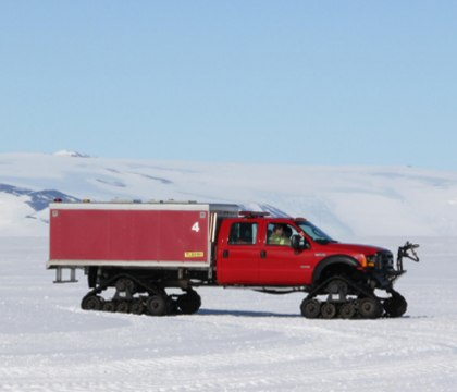 The McMurdo Fire Department maintains a crew at the local airfields to provide aircraft rescue and firefighting. (Photo/Jack Green with the National Science Foundation)
