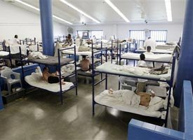 Prisoners at the crowded Plainfield Correctional Facility in Plainfield, Ind. (AP photo)
