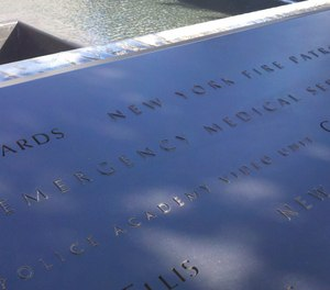 9/11 Memorial panels S-25, 26, and 27 recognize seven EMS providers, but two paramedics and six EMTs were killed while on duty the morning of September 11, 2001.