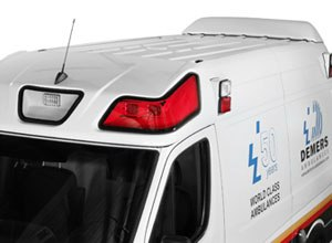 Image DemersIn addition to their Anti-Idling System, Demers ambulances feature an aerodynamic design.