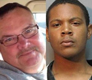 Deputy Allen Bares Jr. (left) and Quintylan Richard.