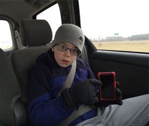 First responders can engage kids to help parents cut down on distracted driving. (Photo/Greg Friese)