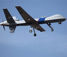 This undated photo provided by U.S. Customs and Border Protection shows an unmanned drone used to patrol the U.S.-Canadian border. (AP Image)