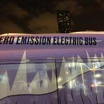 Chicago's electric buses at Aon and Prudential centers.