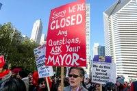 As Teachers Strike, Chicago Mayor Offers Deficit Fix