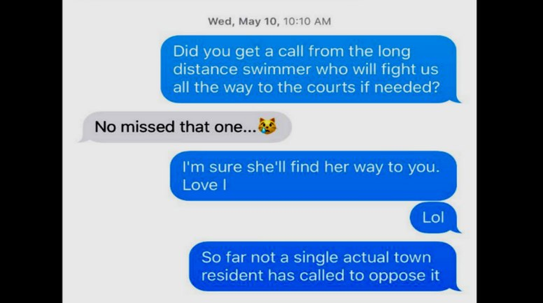 Town of Mooresville text messaging exchange