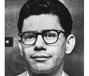 In this Feb. 24, 1967 black-and-white file photo, Ernesto Miranda listens as the jury deliberates his case in Phoenix, Ariz.
