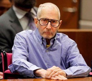 In this Dec. 21, 2016 file photo, millionaire real estate heir Robert Durst sits in a courtroom in Los Angeles. (AP Photo/Jae C. Hong, Pool, File)