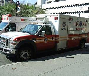 FDNY HazTac ambulance.