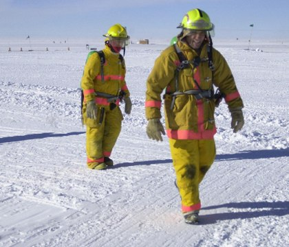 The aridity of Antarctica makes any type of fire an extreme danger.