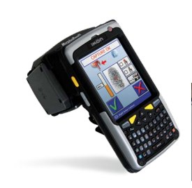 The MorphoRapID handheld biometric terminals allow police to quickly carry out ID checks in the field.