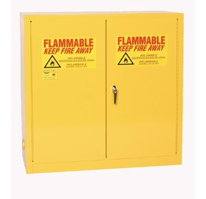 The most common way be compliant when storing flammable liquids is using an approved flammable liquids storage cabinet.