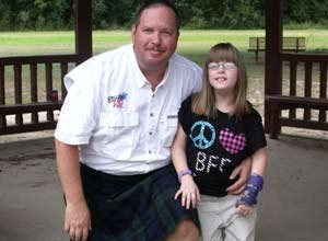 EMS1 Columnist Kelly Grayson (seen here with his daughter KatyBeth) has taken on a unique challenge for September – Prostate Cancer Awareness Month – during which he'll be wearing a kilt at all hours while not on the job.