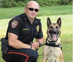 Former Officer Scottie Greene and his K-9 Partner Rio (Jonesborough Police Image)