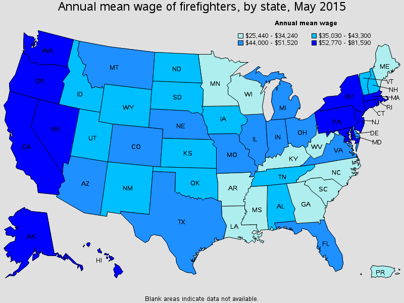 how much money do firefighters make in arizona
