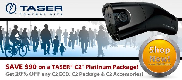 Save $50 when you purchase a TASER C2. Get $10 when someone you refer buys a TASER C2.