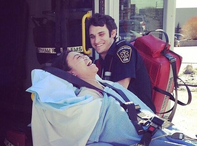 what it takes to be an emt, ambulance taking patient to emergency room