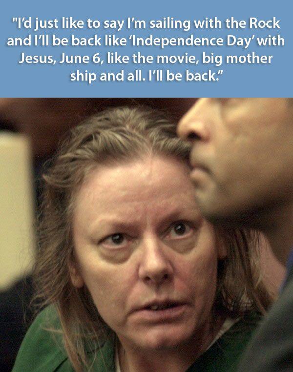 criminal last words, Aileen Wuornos